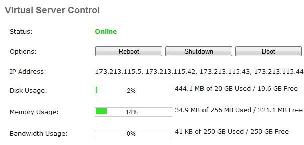 0.01刀的vps 8 IP 256RAM 20GB RAID10